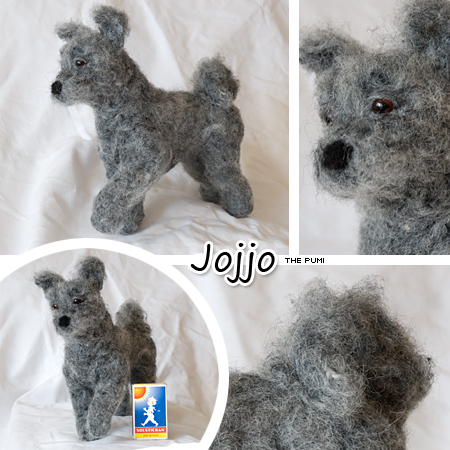 Needle felted pumi by Cemina