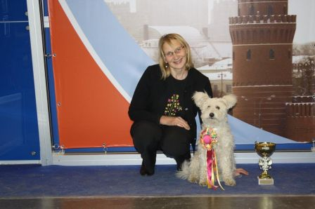 "PUMI Imse Vimse Power Girl ""Sandy"" : Best puppy at ""РОССИЯ-2014"" and ""Кубок президента РКФ"" – avec Marika Keder, Exposition Internationale Russia 2014"