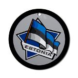 Estonia star flag ornament round